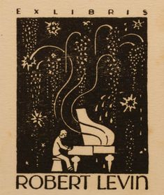 Art-exlibris.net - exlibris by Albert Jaern for Robert Levin