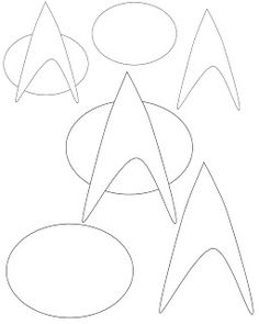 Don't Eat the Paste: Starfleet Badge craft pattern