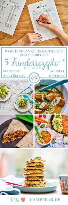 Auch immer auf der Suche nach simplen Rezepten, die auch euren Kindern schmecken? Klick hier für den Wochenplan mit fünf leckeren Gerichten und die passende Einkaufsliste.
