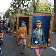 year marked the annual Halloween parade in the city of Kawasaki in the. -This year marked the annual Halloween parade in the city of Kawasaki in the. - Japan Wins Halloween with their Famous Paintings Parade