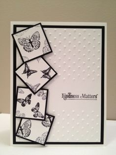 Kindness matters by Tammy Downey - I love the little butterfly squares!!