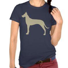 Tan Great Dane Silhouette T Shirt