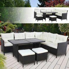 AuBergewohnlich Sitzgruppe Gartengarnitur Garten Garnitur Outdoor Lounge Möbel  Gartengarnituren #Gartengarnitur #Garten #Garnitur #Outdoor