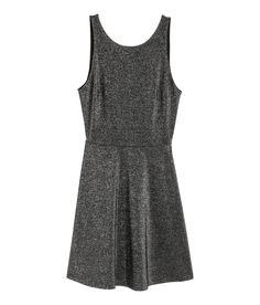 Vestido corto | Plateado | Mujer | H&M MX