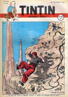Le Journal de Tintin - Edition Belge - N° 58 - 1947-44 - Jeudi 30 Octobre 1947 - Couverture : Edgar P. Jacobs