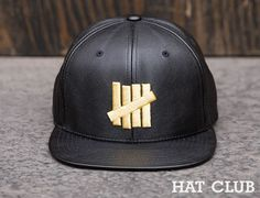 87fce12f000 Exclusive Leather 5 Strikes Snapback Cap by HAT CLUB x UNDEFEATED