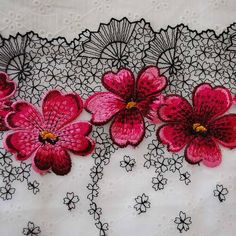 Cherry blossom lace - Use background pattern for white tattoo.