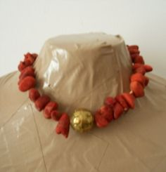 DESTASH AS IS rough coral statement necklace by Zarephath on Etsy, $13.00