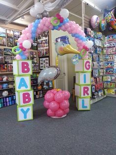 nice balloon arch for baby shower