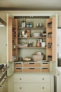 Kitchen Larder, Larder Cupboard, Barn Kitchen, Shaker Kitchen, Kitchen Cupboards, Kitchen Layout, Kitchen Storage, New Kitchen, Kitchen Ideas