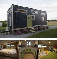 An Ohio Couple's Tiny House with a Big Kitchen and Two Lofts | from Tiny House Nation on FYI Network: