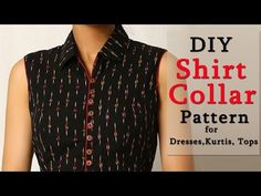 How to sew a blouse with collar and sleeves shirts - Key West Сlick Sleeves Designs For Dresses, Neck Designs For Suits, Neckline Designs, Dress Neck Designs, Collar Designs, Blouse Designs, Shirt Collar Pattern, Shirt Dress Pattern, Collar Kurti