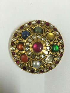 Navratan pendant - Karma Jewels