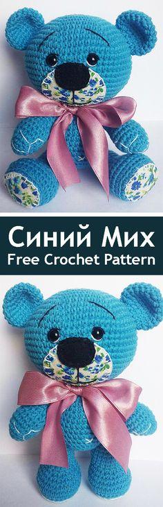 PDF Синий Мих. FREE amigurumi crochet pattern. Бесплатный мастер-класс, схема и описание для вязания игрушки амигуруми крючком. Вяжем игрушки своими руками! Медведь, мишка, медвежонок, bear. #амигуруми #amigurumi #amigurumidoll #amigurumipattern #freepattern #freecrochetpatterns #crochetpattern #crochetdoll #crochettutorial #patternsforcrochet #вязание #вязаниекрючком #handmadedoll #рукоделие #ручнаяработа #pattern #tutorial #häkeln #amigurumis