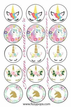 Girl Birthday Decorations Bottle Cap Images Magical Unicorn