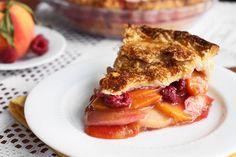 All-Butter Raspberry Peach Pie
