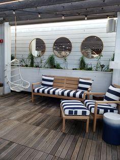 Hampton Social South Barrington – LG Development Beach House Bedroom, Home Bedroom, Riverside Pool, South Barrington, Sf Restaurants, Teen Bedroom Designs, Outdoor Sofa, Outdoor Decor, Restaurant Concept