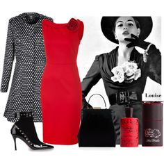 elske by clayhandler on Polyvore featuring Valentino, Lulu Guinness, Juliette Has A Gun and Christian Dior