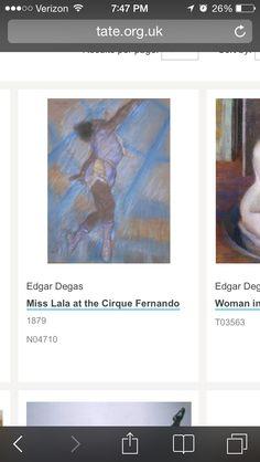 Edgar Degas 1874 miss lala at the cirque Fernando Impressionism
