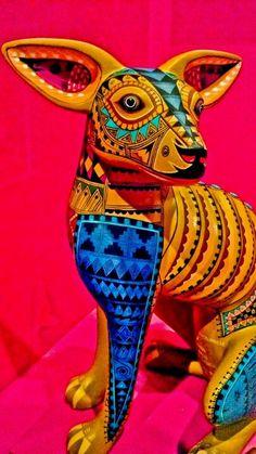 Mexican folk art - 'Alebrijes' are brightly colored Mexican folk art sculptures of fantastical creatures.
