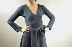 Pauline Dress Pattern: Get access to this easy faux wrap dress PDF printable sewing pattern from beginner to intermediate sewists