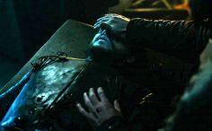 """6.01 """"The Red Woman"""" – Dolorous Edd closes the eyes of Lord Commander Jon Snow."""