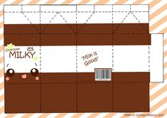 Printable Milk Carton Template | Super Cute Milky Cut-out! | Paper Kawaii