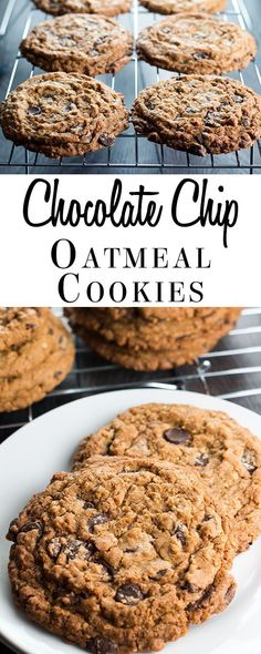 Everyone needs a treat now and then, and this recipe for Chocolate Chip Oatmeal Cookies is packed with chocolate and oats are a treat to satisfy any craving! via @Erren's Kitchen