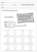 Atividades de caligrafia com vogais Notebook, Bullet Journal, Words, Uppercase And Lowercase Letters, Literacy Activities, Etchings, School, The Notebook, Horse