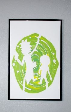 Rick and Morty Portal Poster by PosterSlinger on Etsy