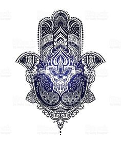 Hamsa Hand of Fatima royalty-free stock vector art