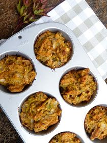 The Daily Dietribe: Gluten-Free Acorn Squash Stuffing Muffins, Updated (Vegan and Grain-Free Optional)