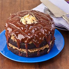 German Chocolate Fudge Cake***
