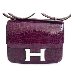 09b87cdbb539 Labellov Brand New Constance MIni Cassis Alligator Lisse ○ Buy and Sell  Authentic Luxury