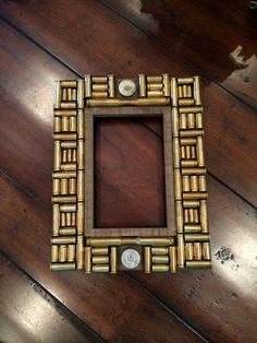 4x6 Brass Bullet Casing Frame by SouthernLegacyVA on Etsy $45