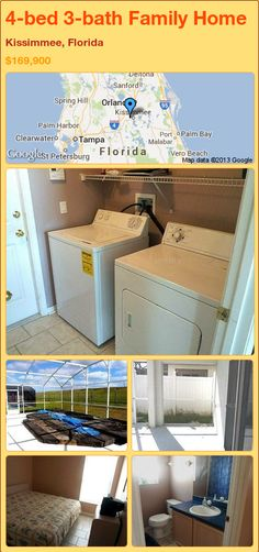 4-bed 3-bath Family Home in Kissimmee, Florida ►$169,900 #PropertyForSale #RealEstate #Florida http://florida-magic.com/properties/74328-family-home-for-sale-in-kissimmee-florida-with-4-bedroom-3-bathroom