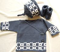 Ravelry: Baby kimino top with matching hat and bootees - P017 pattern by OGE Knitwear Designs