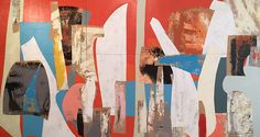 (Belfast, ME) Current Exhibition of New Work by Daniel Anselmi Garners Rave Reviews Mixed Media Collage, Collage Art, Rules Of Composition, Abstract Art, Abstract Paintings, New Work, Printmaking, Rave, Art Gallery