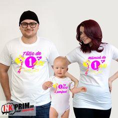 Set Familie aniversare de 1 an copil / tricouri taiere de mot 1 An, T Shirt, Tops, Women, Fashion, Supreme T Shirt, Moda, Tee Shirt, Fashion Styles