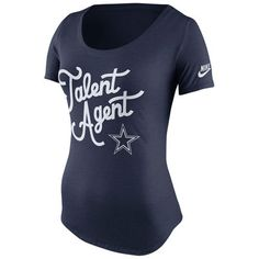 914f6bfb4749 Dallas Cowboys Nike Women s Talent Agent Tri-Blend T-Shirt - Navy Blue