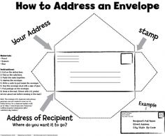 Teaching Students How to Address an Envelope - Pinned by @PediaStaff – Please visit http://ht.ly/63sNt for all (hundreds of) our pediatric therapy pins
