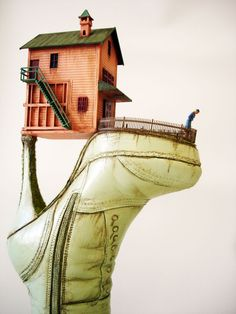 Before you throw out those old shoes, consider the work of Greek born Israeli artist Costa Magarakis, who loves to transform different footwear into sculptures that tell their own stories.   From former...