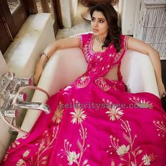 Samantha Ruth Prabhu in Anita Dongre collection Anita Dongre, Half Saree Designs, Blouse Designs, Dress Designs, Saris, Samantha In Saree, Samantha Ruth, Indian Dresses, Indian Outfits