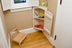 Waldorf Inspired Nature Corner (Cabinet) - Great idea for small places or when the goodies would need to be hidden (from exploring babies or pets, etc.)