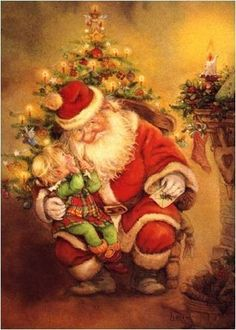 Санта Клаус и дети / Santa Claus and children/ Lisi Martin. Комментарии : LiveInternet - Российский Сервис Онлайн-Дневников