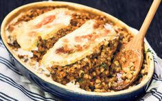Pearl barley, porcini and taleggio bake recipe - Telegraph Baking Recipes, Healthy Recipes, Healthy Food, Meals Without Meat, Pearl Barley, Grains, Vegetarian, Tasty, Cheese