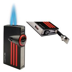 Lotus Orion Cigar Lighter with Twin Flame and Fold-Out Punch Displayed Tobacco Shop, Cigar Shops, Premium Cigars, Cigar Lighters, Lotus, Punch, Twins, Chrome, Ebay