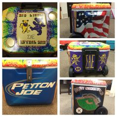 The Bud light for Logans Fraternity Coolers, Frat Coolers, Cool American Flag, Formal Cooler Ideas, Fraternity Collection, Carolina Cup, Cooler Designs, Cooler Painting, Beer Pong Tables