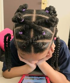 Daveigh's hairstyle of 2019 🎉 This style was inspired by La première coiffure de Daveigh en 2019 style … Little Girls Natural Hairstyles, Mixed Girl Hairstyles, Natural Hairstyles For Kids, Kids Braided Hairstyles, Natural Hair Styles, Kid Braid Styles, Afro, Toddler Hair, Toddler Braids