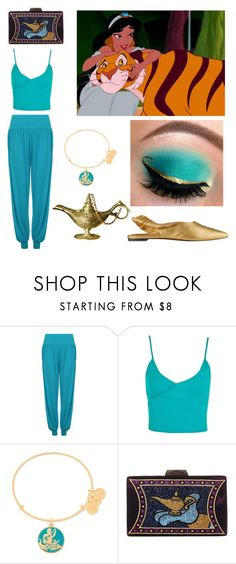 """""""Jasmine"""" by rey-of-jakku ❤ liked on Polyvore featuring WearAll, Topshop, Disney, Alex and Ani and Sigerson Morrison"""